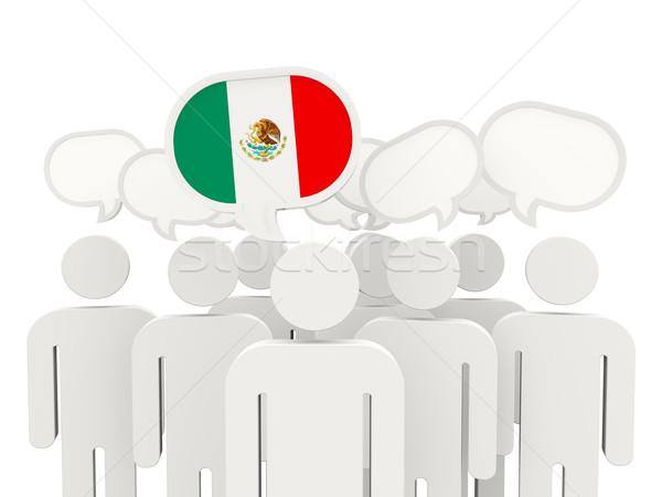 人 フラグ メキシコ 孤立した 白 会議 ストックフォト © MikhailMishchenko