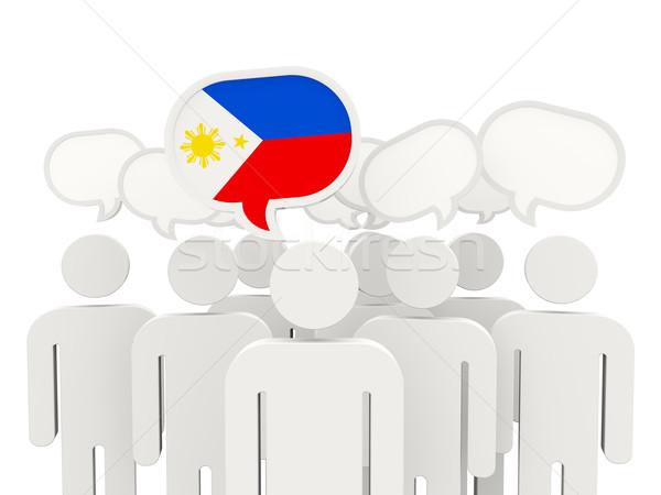 People with flag of philippines Stock photo © MikhailMishchenko