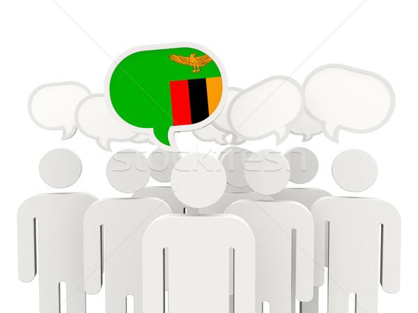 люди флаг Замбия изолированный белый заседание Сток-фото © MikhailMishchenko