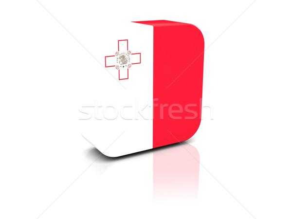 Foto stock: Cuadrados · icono · bandera · Malta · reflexión · blanco