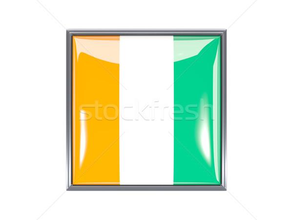 Square icon with flag of cote d Ivoire Stock photo © MikhailMishchenko