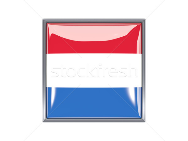 Platz Symbol Flagge Niederlande Metall Rahmen Stock foto © MikhailMishchenko