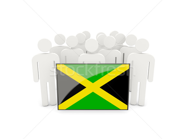 People with flag of jamaica Stock photo © MikhailMishchenko