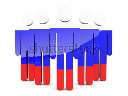 Emberek zászló Bulgária izolált fehér tömeg Stock fotó © MikhailMishchenko