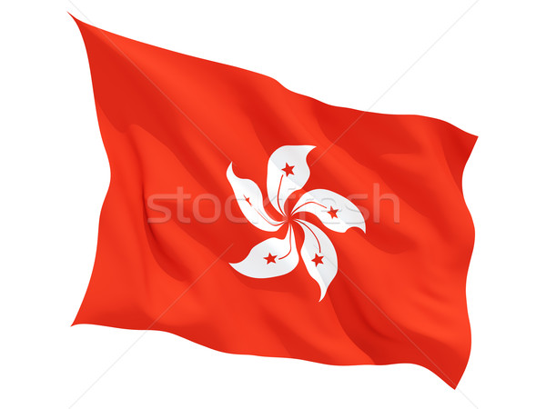 Waving flag of hong kong Stock photo © MikhailMishchenko