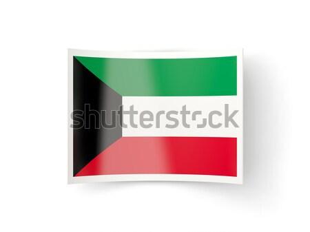 Zászló címke Egyesült Arab Emírségek izolált fehér felirat Stock fotó © MikhailMishchenko