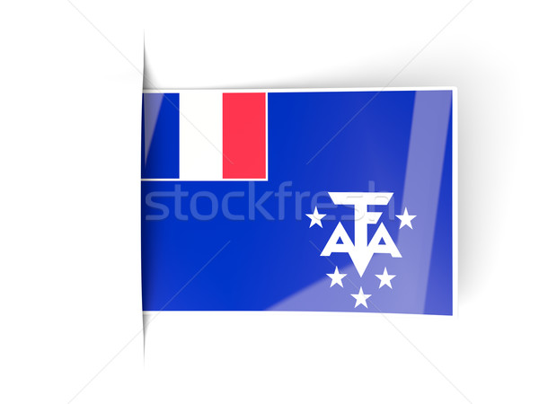 Piazza etichetta bandiera francese meridionale isolato Foto d'archivio © MikhailMishchenko