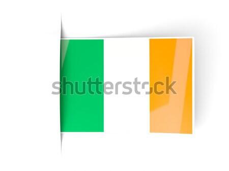 Square label with flag of ireland Stock photo © MikhailMishchenko
