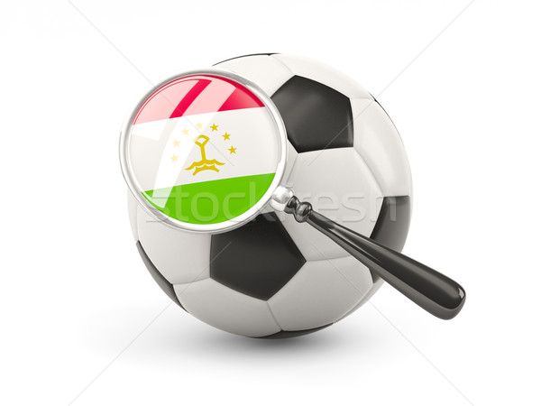 Football with magnified flag of tajikistan Stock photo © MikhailMishchenko