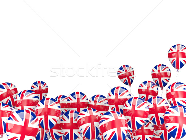 Battant ballons pavillon Royaume-Uni isolé blanche Photo stock © MikhailMishchenko