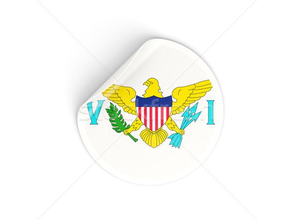 Round sticker with flag of usa virgin islands Stock photo © MikhailMishchenko