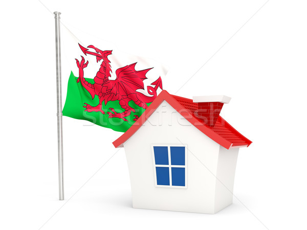 House with flag of wales Stock photo © MikhailMishchenko