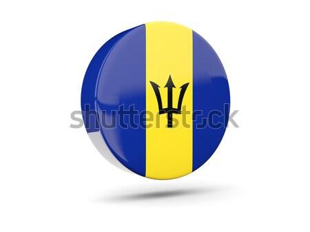 икона флаг Барбадос знак белый Сток-фото © MikhailMishchenko