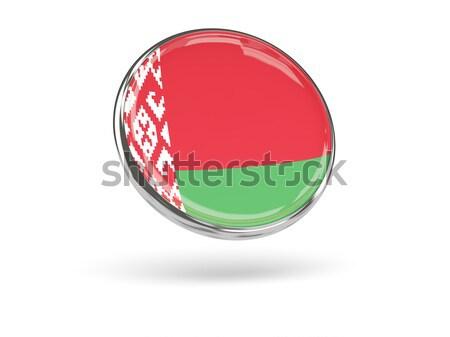 Ikon bayrak Belarus parlak imzalamak beyaz Stok fotoğraf © MikhailMishchenko