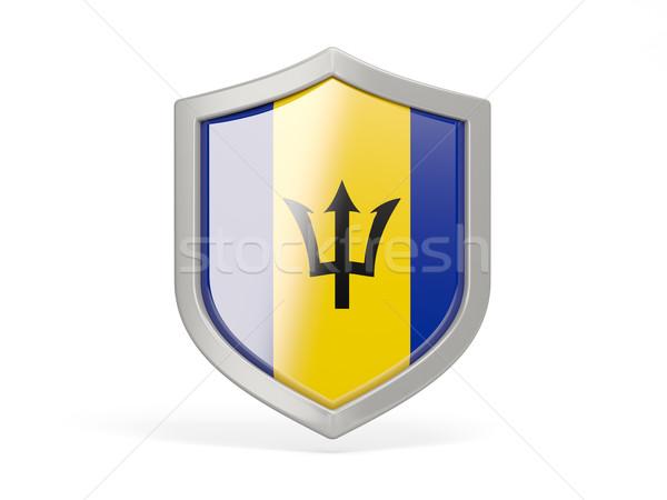 Shield icon with flag of barbados Stock photo © MikhailMishchenko