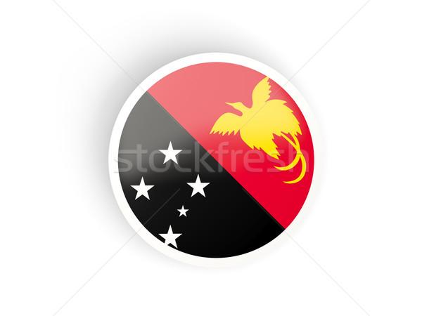 наклейку флаг Папуа-Новая Гвинея изолированный белый путешествия Сток-фото © MikhailMishchenko