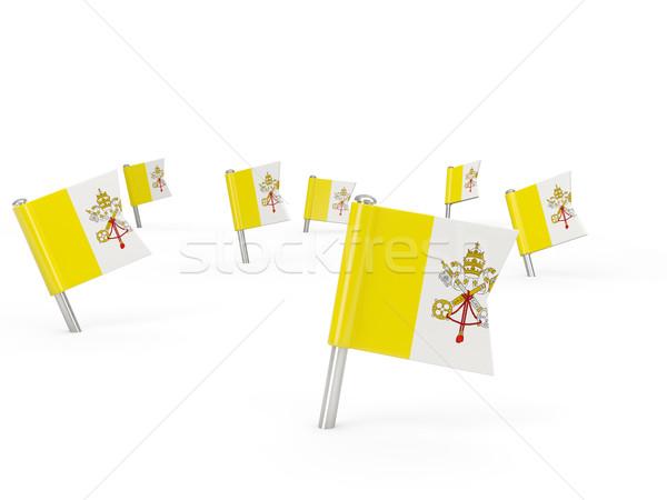 Piazza bandiera Città del Vaticano isolato bianco paese Foto d'archivio © MikhailMishchenko
