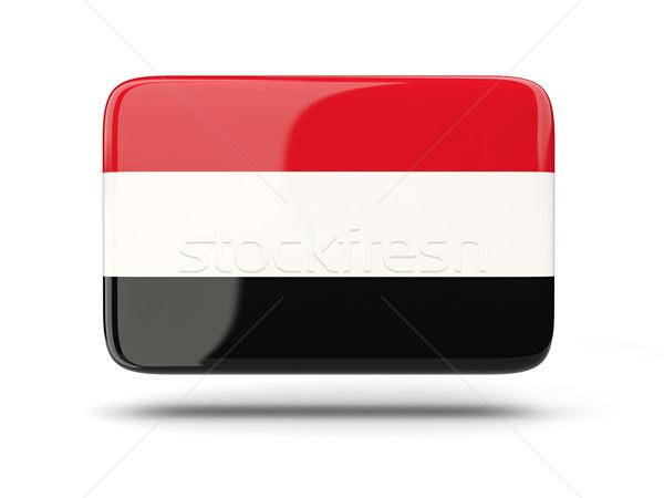 Praça ícone bandeira Iémen sombra assinar Foto stock © MikhailMishchenko