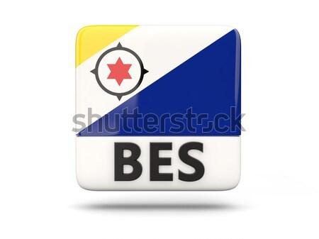 Round icon with flag of bonaire Stock photo © MikhailMishchenko