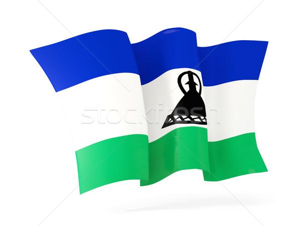 флаг Лесото 3d иллюстрации изолированный белый Сток-фото © MikhailMishchenko