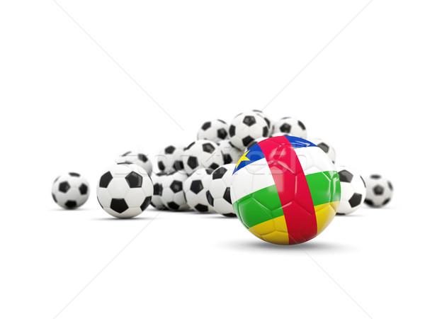 Piłka nożna banderą centralny Afryki republika odizolowany Zdjęcia stock © MikhailMishchenko