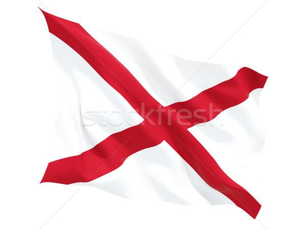 Flag of alabama, US state fluttering flag Stock photo © MikhailMishchenko