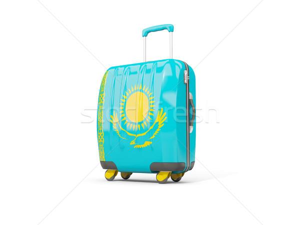 Bagaglio bandiera valigia isolato bianco illustrazione 3d Foto d'archivio © MikhailMishchenko