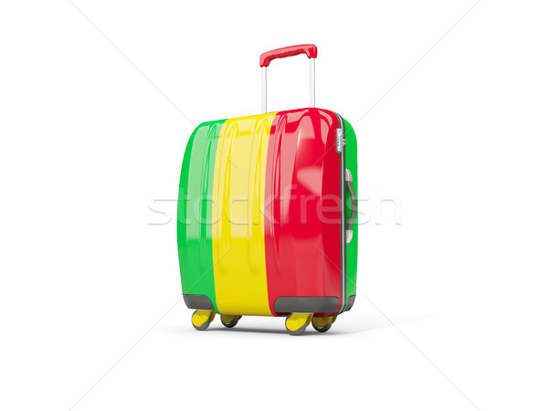 Luggage with flag of mali. Suitcase isolated on white Stock photo © MikhailMishchenko