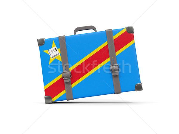 Equipaje bandera democrático república Congo maleta Foto stock © MikhailMishchenko