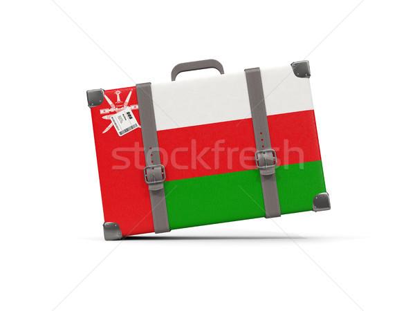 Bagaj bayrak Umman bavul yalıtılmış beyaz Stok fotoğraf © MikhailMishchenko