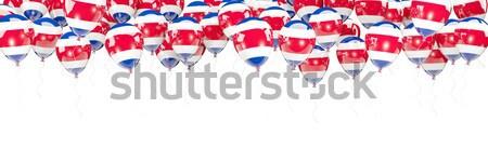 Ballons cadre pavillon Pays-Bas isolé blanche Photo stock © MikhailMishchenko
