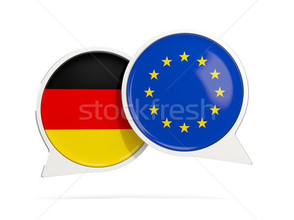 Chat bubbles of Germany and EU isolated on white Stock photo © MikhailMishchenko