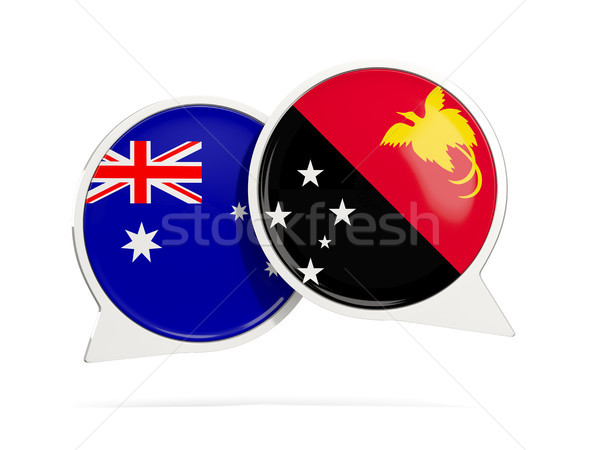 Chat bubbles of Australia and Papua New Guinea isolated on white Stock photo © MikhailMishchenko