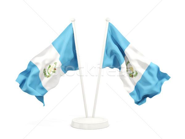 Two waving flags of guatemala Stock photo © MikhailMishchenko