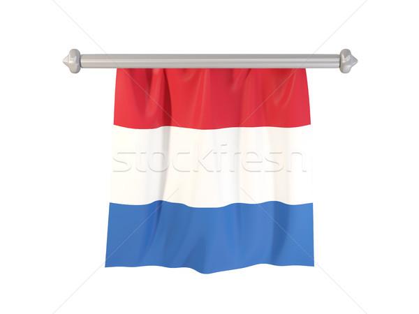 フラグ オランダ 孤立した 白 3次元の図 ラベル ストックフォト © MikhailMishchenko