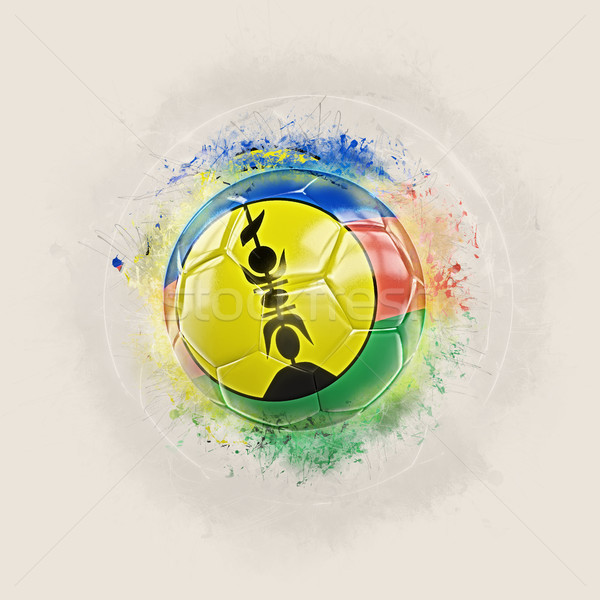 Grunge football with flag of new caledonia Stock photo © MikhailMishchenko