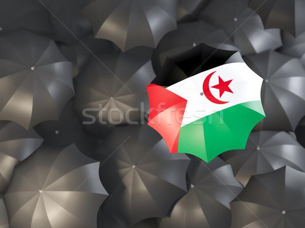 Umbrella with flag of western sahara Stock photo © MikhailMishchenko