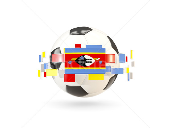 Soccer ball with line of flags. Flag of swaziland Stock photo © MikhailMishchenko