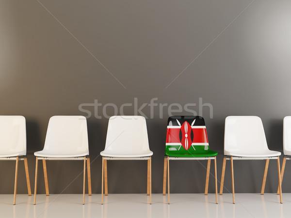 Sandalye bayrak Kenya beyaz sandalye Stok fotoğraf © MikhailMishchenko