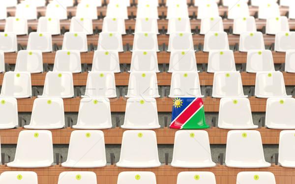 Stadyum koltuk bayrak Namibya beyaz Stok fotoğraf © MikhailMishchenko