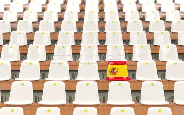 スタジアム 座席 フラグ スペイン 白 ストックフォト © MikhailMishchenko