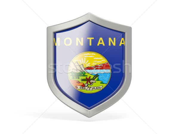 Pajzs ikon zászló Montana Egyesült Államok helyi Stock fotó © MikhailMishchenko