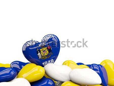 Heart shaped oregon state flag. United states local flags Stock photo © MikhailMishchenko