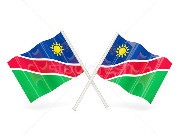 Bayrak Namibya dalga pin afiş Hong Kong Stok fotoğraf © MikhailMishchenko