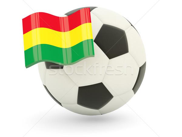 Futball zászló Bolívia izolált fehér sport Stock fotó © MikhailMishchenko