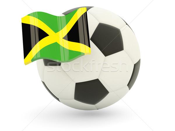Futbol bayrak Jamaika yalıtılmış beyaz spor Stok fotoğraf © MikhailMishchenko