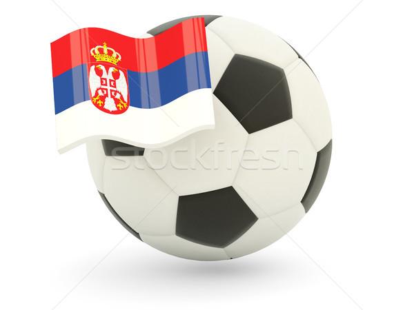 Futbol bayrak Sırbistan yalıtılmış beyaz spor Stok fotoğraf © MikhailMishchenko