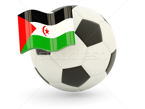 Voetbal vlag westerse sahara geïsoleerd witte Stockfoto © MikhailMishchenko
