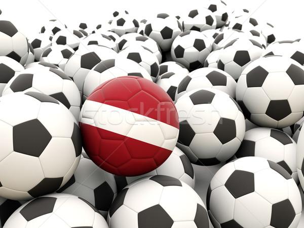 Voetbal vlag Letland regelmatig zomer Stockfoto © MikhailMishchenko