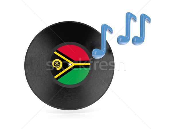 виниловых диск флаг Вануату изолированный белый Сток-фото © MikhailMishchenko